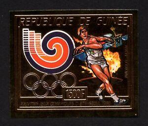 Olympic Guinea 1987 stamp Mi#1146 B Gold MNH CV=42€