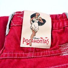 Vintage 90's Disney Pocahontis Denim High Waisted Jeans W22 L28 Girls 11-12yrs