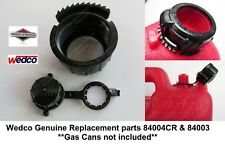 Screw Cap Collar 84004CR +Rear Vent Cap 84003 Wedco Briggs Stratton Gas Can Part