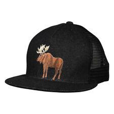 Moose Trucker Hat by LET'S BE IRIE - Black