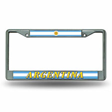 Argentina World Cup Soccer (Football) Chrome Metal License Plate Frame