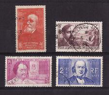timbre France   chomeur intellectuel   série de 1939   num: 436/39   oblitéré