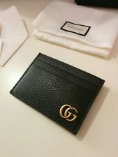 GUCCI WALLET Money clip card holder black leather WITH BOX!