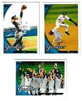 2010 Topps New York Yankees Team Set Series 1 & 2 - 21 Cards - Mariano Rivera