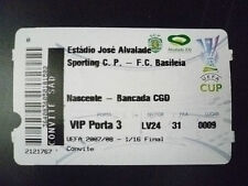 Tickets- 2007/08 UEFA Cup 1/16 FINAL-  Sporting Lisbon v Basel