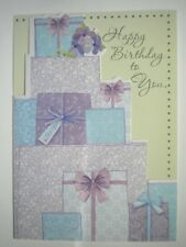 """""""HAPPY BIRTHDAY TO YOU"""" WRAPPED GIFTS GREETING CARD + DESIGNER ENVELOPE"""