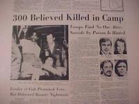 VINTAGE NEWSPAPER HEADLINE ~JIM JONES MASS CULT SUICIDE MURDER JONESTOWN 1978