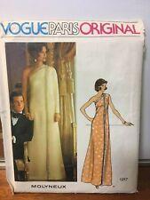 UNCUT Vogue Paris Original 1217 Sewing Pattern, Molyneux, Size 10, Evening Dress