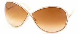 Authentic Tom Ford Miranda FT0130 TF 130 28F Shiny Rose Gold Metal Sunglasses