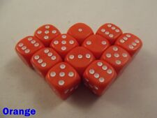 Opaque Dice Dotted 12 x 12mm D6 Orange Board Game Table Top Yahtzee Perudo RPG