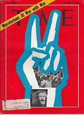 Time Magazine  1969, October 17, Moratorium: At War With War