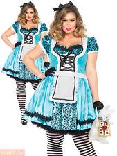 Leg Avenue Tea Party Alice Costume Size 3x - 4x Blue/black