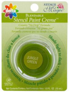 Delta Stencil Magic Blendable Oil Based Stencil Paint Creme Jungle Green Color