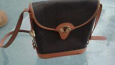 DOONEY&BOURKE vintage  pebble black leather handbag w/adjustable shoulder strap