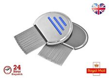 Lice Nit Comb Full Stainless Steel Metal Head and Teeth Adults Children Pets