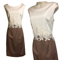 PHASE EIGHT Women's UK 16 Glam Shift Dress Colour Block Lace Trim Formal Party