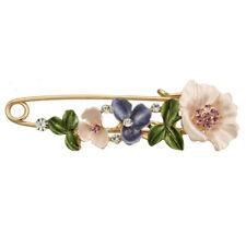 Vintage Alloy Rhinestone Crystal Flower Wedding Bridal Bouquet Brooch Pin Wom GT Rose