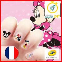 💅 LOT DE 2 Disney Mickey Minnie - Manucure Nail art Ongle - Sticker Autocollant