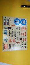 GI Joe Snowcat Original Sticker Decal Sheet 1985