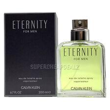 Eternity for Men by Calvin Klein 6.7 oz Edt Spray Nib Authentic