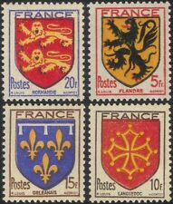 France 1944 French Towns Coats-of-Arms/Heraldry/Design/Art/History 4v set n46024