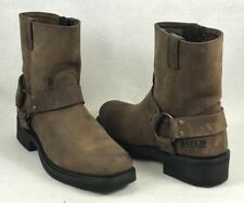 Bates Tahoe Harness Boots Brown Leather Mens Size 7 Mint Condition - 1298