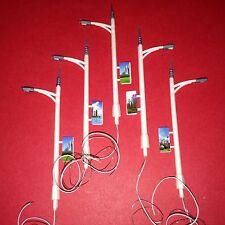 LOT de 5 LAMPADAIRES de RUE à LED Hauteur 7,9 cm 12V avec R 470 Ω HO ou N NEUFS