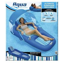 Aqua Sunshade Recliner Float With 50 SPF Swimming Pool Inflatable Lounge