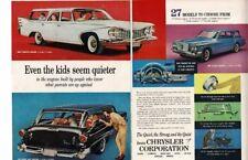 VINTAGE 1960 PLYMOUTH VALIANT DODGE DART STATION WAGONS CARS AUTOS AD PRINT