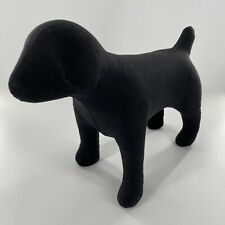 Professional Fabric Dog Mannequin Large Life Size Black Accessories Display Rare