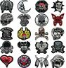 SKULL Skeleton BEST EVER BIKER MOTORCYCLE IRON ON patch SEW ON BADGE