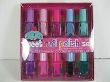 Nail Polish Sweet New 10 Piece Set Kid Friendly Pinks Purple Blue Green Glitter