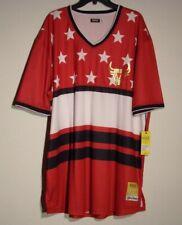 Nwt Men'S 5Xl Huge Exchange Multi-Color Stars Ss V-Neck Jersey Shirt $36 #1625