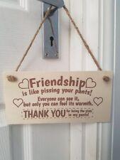 Friendship Panneau de porte meilleur ami Plaque murale cadeau shabby chic MERCI