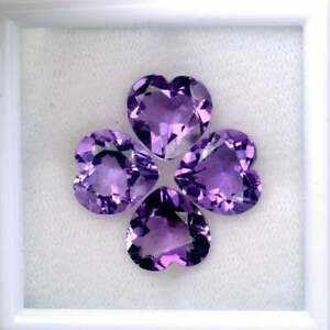 Heart Shaped Natural Amethyst 7mm x 7mm