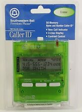 New Southwestern Bell Freedom Phone Caller ID FM112 LLCS  50 Memory Lime Green
