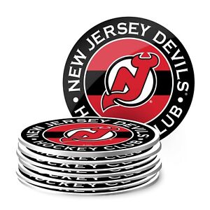 New Jersey Devils NHL Team Logo Coasters (Package of 8)