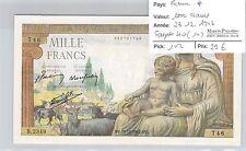 BILLET FRANCE - 1000 FRANCS - 23.12.1942 *