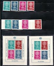 ALBANIA Sc 609-12 NH PERF & IMPERF SETS+2S/S OF 1962 - MALARIA