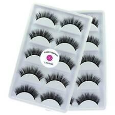 2Boxes/Lot 100% Real Mink Reusable 3D Thick Natural Daily False Eyelashes Makeup