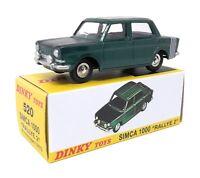 Dinky Toys by Atlas 1/43 Simca 1000 Rallye 2 1975 green Model Car Metal # 520