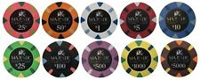 (10) MAJESTIC POKER CHIPS SAMPLE SET