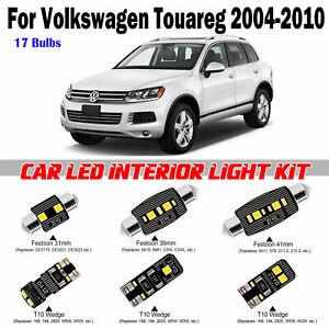17 Bulbs Bright LED Interior Dome Light Kit For VW Touareg 2004-2010 Error Free
