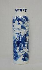 Chinese  Blue and White  Porcelain  Beaker  Vase      M3141