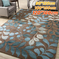 Botanical Leaves Area Rug Carpet SoftenNon-Slip Home Bedroom Mat Floor Indoo *