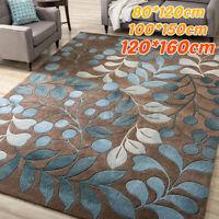 Botanical Leaves Area Rug Carpet SoftenNon-Slip Home Bedroom Mat Floor Indoo *