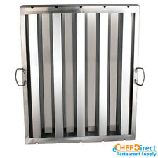 """Box of 6 Hood Filter/Grease Baffle 20""""W X 25""""H Stainless Steel Commercial Range"""