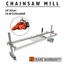 "Portable Chainsaw Mill 18""-48"" Chain Saw Mill Aluminum Steel Planking Lumber"
