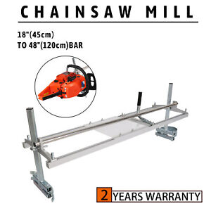"""Portable Chainsaw Mill 18""""-48"""" Chain Saw Mill Aluminum Steel Planking Lumber"""