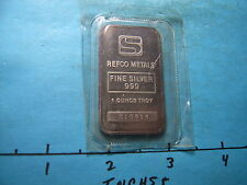 REFCO SIMMONS COMMERCIAL 999 SILVER ART BAR MINT SEALED RARE PIECE
